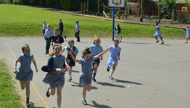 Primary schools invest in daily mile tracks