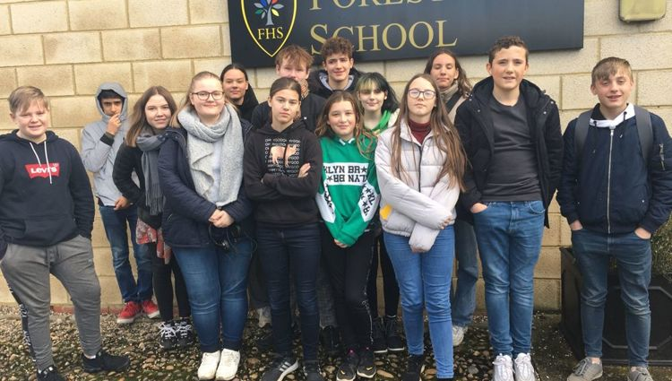 Two schools join to welcome Danish visitors