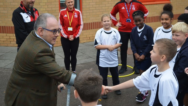 PE Apprentices welcome MP Robert Halfon visit